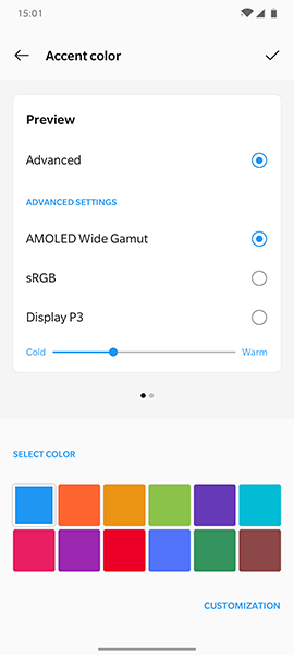 OnePlus 7T- OxygenOS - customization image 1