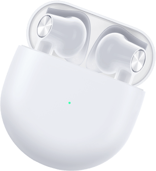 OnePlus Buds White with a Case